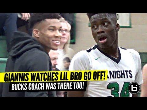 Giannis Watches Lil Bro Alex GO OFF W/ Bucks Head Coach!!! Is Alex NBA Bound!?