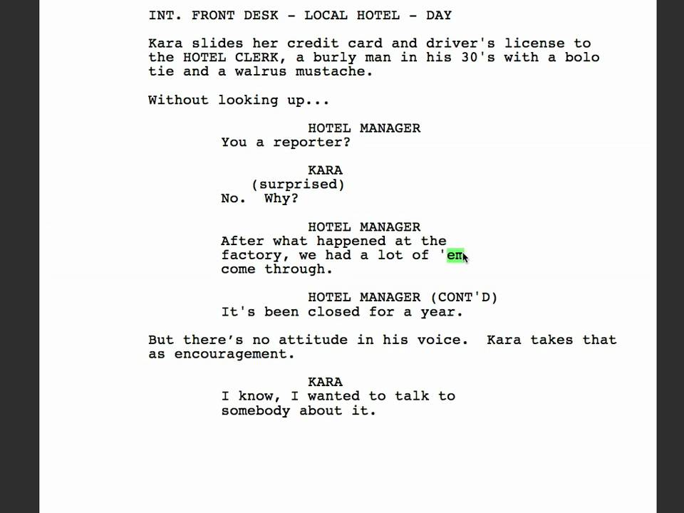 dream sequence in screenwriting agents