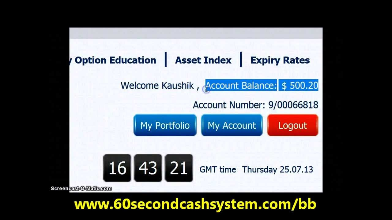 60 second binary option strategy review