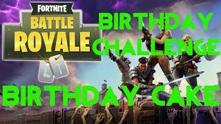 Fortnite Battle Royale | Birthday Celebration Challenge | Birthday Cake Location Guide