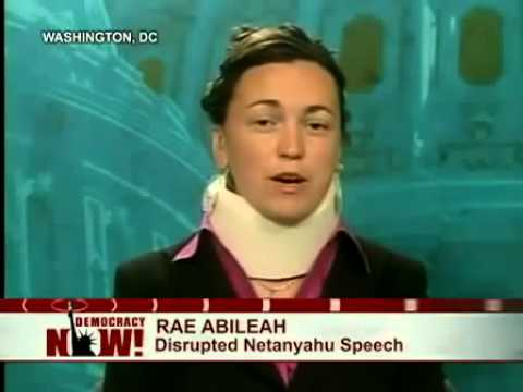 Jewish girl exposes Israel disrupts Netanyahu during congress and is tackled by AIPAC