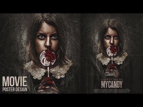 Create a My Candy Horror Movie Poster Design in Photoshop CC