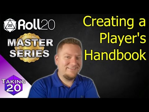 Roll20 Master Series - How To Link Handouts, Creating A PHB & More!