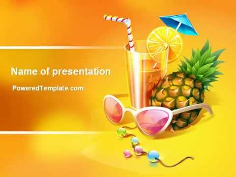 Tropical Vacation PowerPoint Template By PoweredTemplate.com