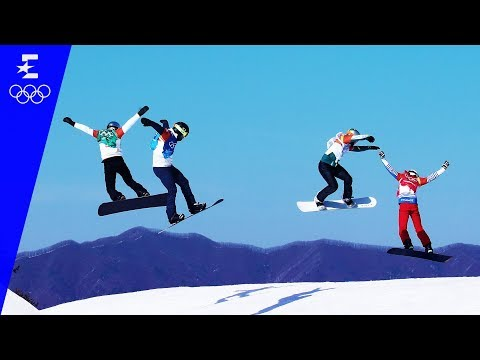Snowboard | Men's Snowboard Cross Highlights | Pyeongchang 2018 | Eurosport