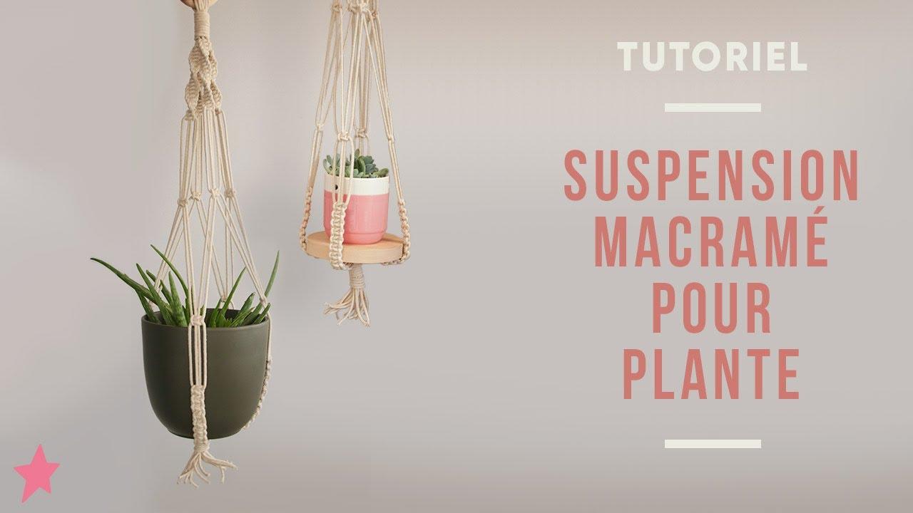 diy suspension macrame pour pots de fleurs