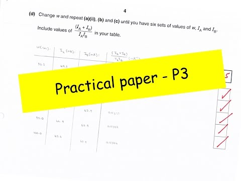 AS level Physics - Practical Paper P3 Part 1