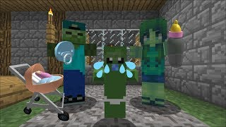 MARK AND MARIE OUR FRIENDLY ZOMBIE HAVE A BABY ZOMBIE MONSTER !! ZOMBIE PARENTS !! Minecraft Mods thumbnail