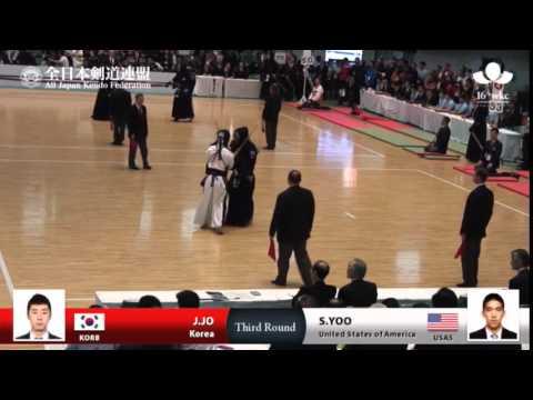 (KOR8)J.JO MM- S.YOO(USA5) - 16th World Kendo Championships - Men's Individual_3R