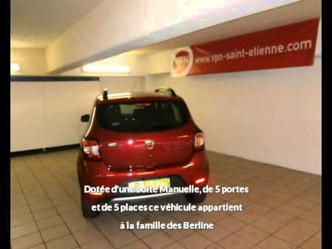 dacia sandero tce stepway ambiance vendre saint etienne chez vpn autos youtube. Black Bedroom Furniture Sets. Home Design Ideas