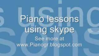 Piano skype lessons - free trial lesson !