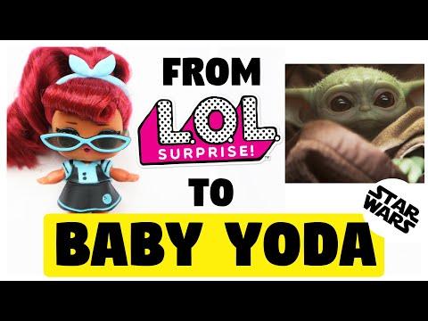 Making BABY YODA DOLL / STAR WARS / LOL SURPIZE DOLL REPAINT by Poppen Atelier