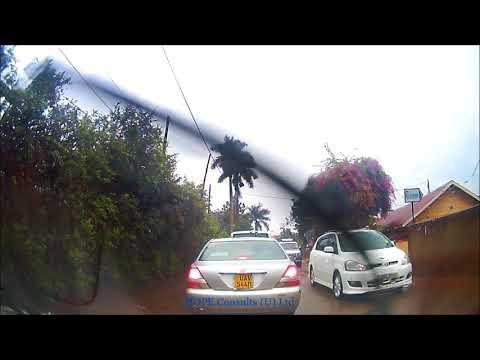 Kampala drive under rain from Kyanja to Entebbe road