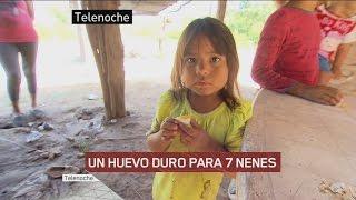 La realidad que más nos duele: en Chaco, siete nenes comen con un huevo duro