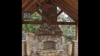 Time Lapse Outdoor Stone Fireplace Construction In Atlanta, Ga
