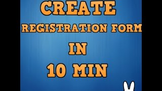 Registration form in PHP with MySQL in Hindi