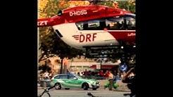 Helikopter landet auf dem Goetheplatz in München