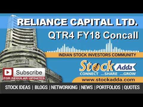 Reliance Capital Ltd Investors Conference Call Qtr4 FY18