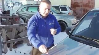 видео Скол на лобовом стекле (КАСКО)