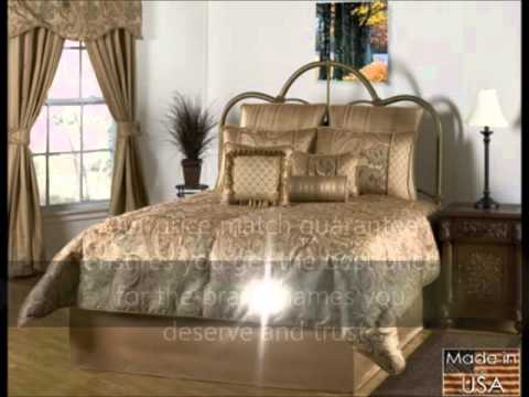 Ricci Bronze and Gold Paisley Print Bedding by Victor Mill