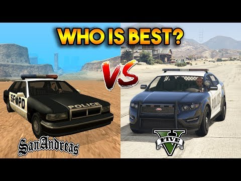 GTA 5 ONLINE : GTA 5 COPS VS GTA SA COPS (WHO IS BEST?)