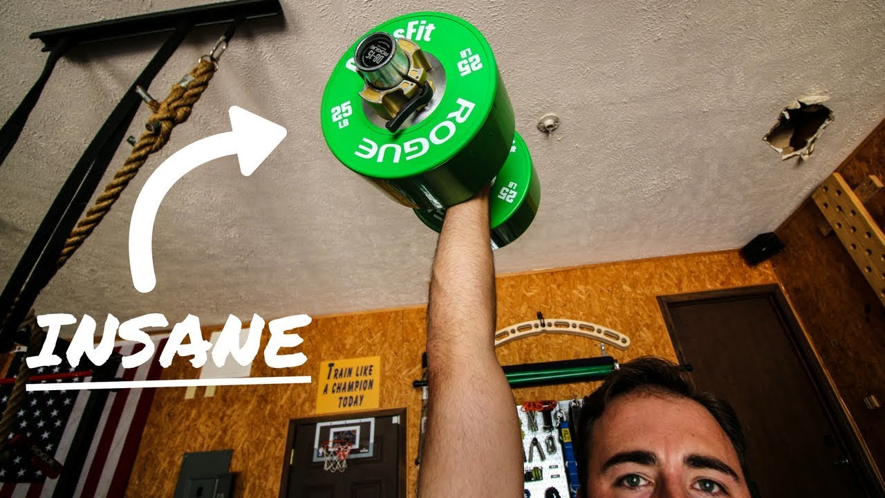 These are insane rogue dumbbell bumper plates first impression