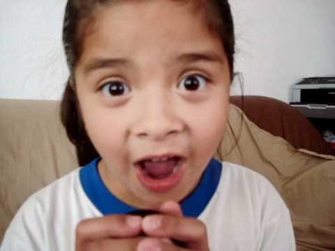 little girl speaking spanish!