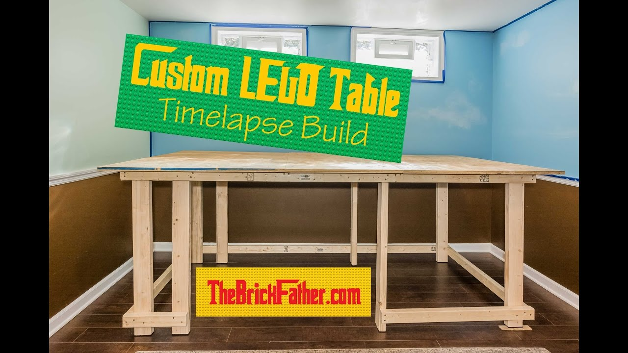 Custom LEGO Table Timelapse Build