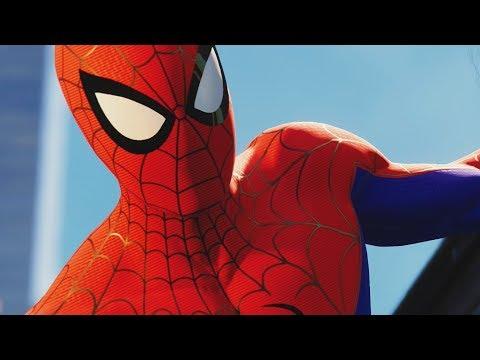 UNLOCKING INTO THE SPIDER-VERSE SUIT in SPIDER-MAN PS4 Walkthrough Gameplay (Marvels Spider-Man)