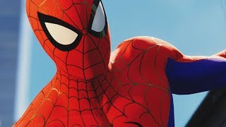 UNLOCKING INTO THE SPIDER-VERSE SUIT in SPIDER-MAN PS4 Walkthrough Gameplay (Marvel