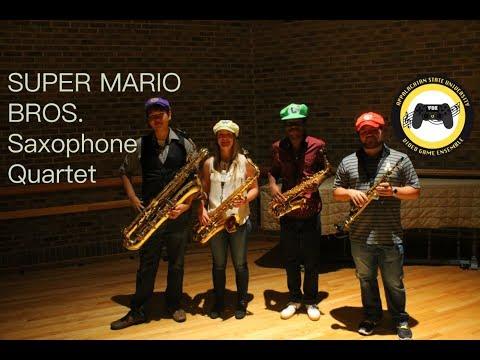 """""""Super Mario Bros."""" Saxophone Quartet! [VGE]"""