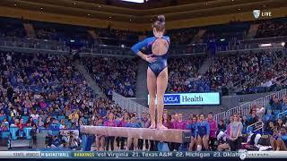 Madison Kocian (UCLA) 2018 Beam vs Utah 9.9