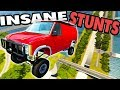INSANE High Speed Jumps and CRASHES! - BeamNG Drive Deadzone STUNT MAP MOD