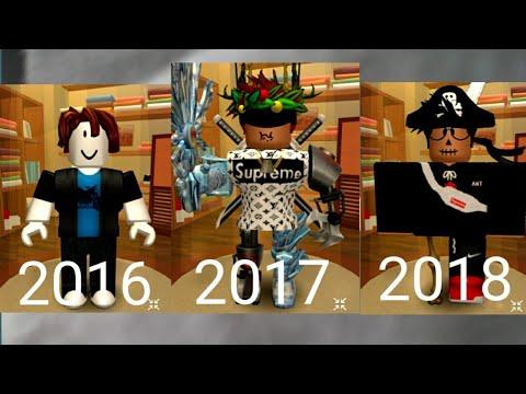 My roblox avatar evolution|3 years of Roblox