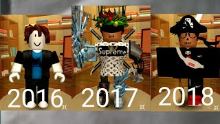My roblox avatar evolution|3 years of Roblox
