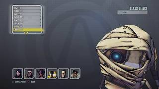 Borderlands TPS: ALL CHARACTER HEADS!