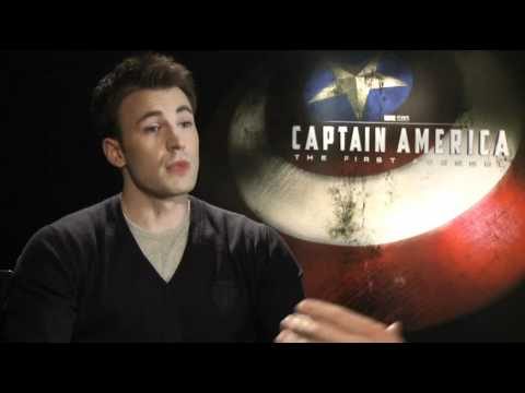 Interview with Chris Evans and Hayley Atwell - CAPTAIN AMERICA: THE FIRST AVENGER Marvel poster