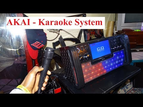 AKAI   Bluetooth CD + G Karaoke System