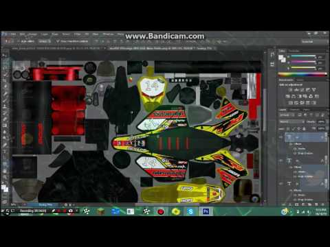 mx simulator how to put name and number on bike