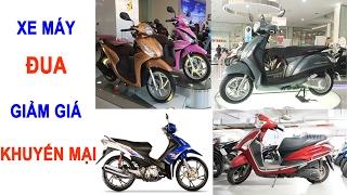 Xe máy Honda, Yamaha, Vespa, Suzuki đua giảm giá,  khuyến mại