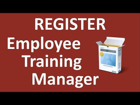 Register Employee Training Manager