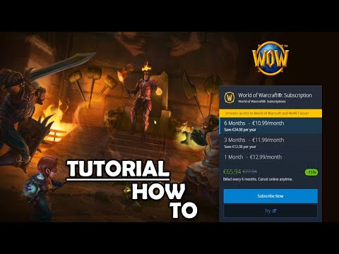 World of Warcraft Retail + Classic Tutorial | How to cancel subscription | How to buy game time!