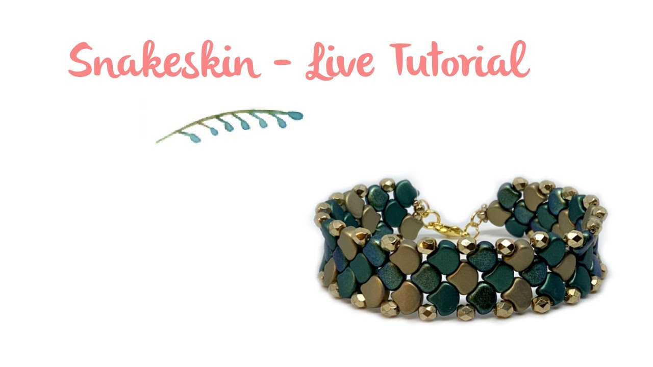 Snake Skin Bracelets with Ginko Beads - Live tutorial with Juliet