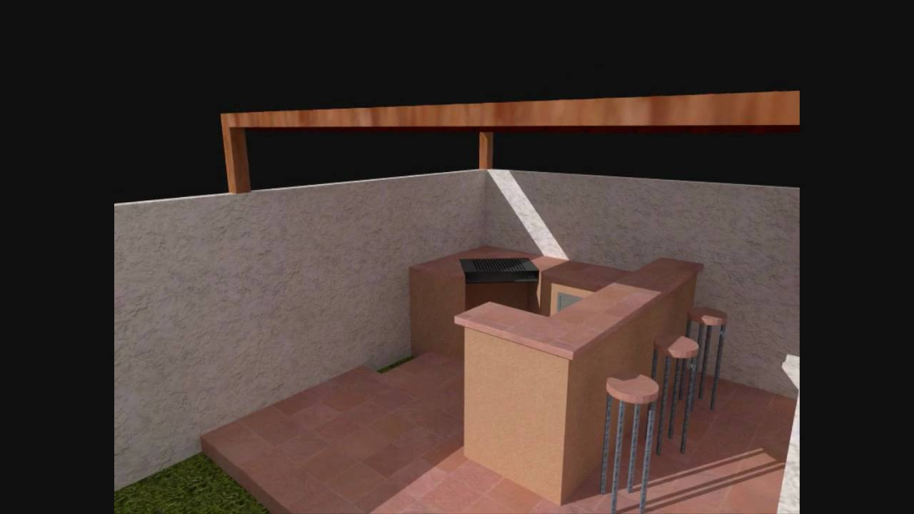 Asador casa los pinos youtube for Asadores de piedra para jardin
