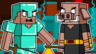 Survival In The Nether | Block Squad (Minecraft Animation)