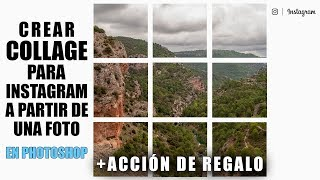 Crear Collage Para Instagram En Photoshop A Partir De Una Foto + Acción Gratis