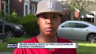 7 people shot in 5 separate incidents overnight in Detroit