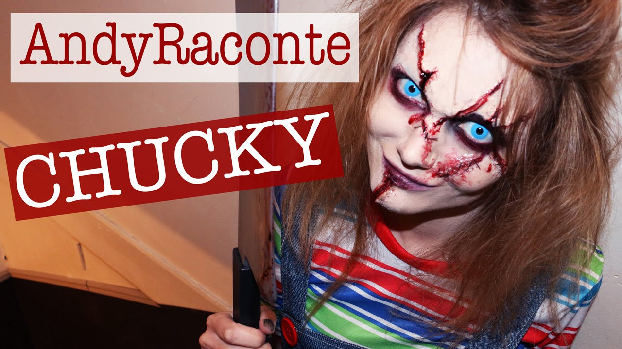 chucky makeup sur andyraconte youtube. Black Bedroom Furniture Sets. Home Design Ideas