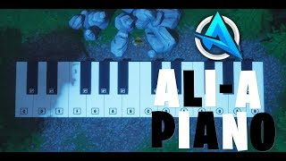 Ali-A Intro Played on Fortnite Piano!