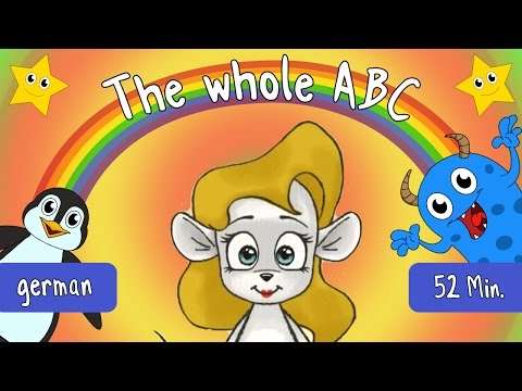 The Whole German Alphabet - German Letters From A to Z With Lyrics - ABC For Kids